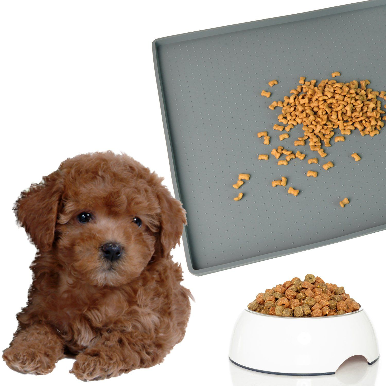 Mofason silicone pet food mat tray raised dog cat food mat