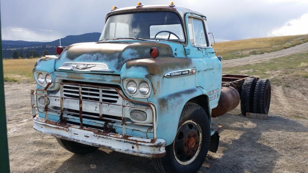 '59 Chevrolet COE CabOvEr Trucks, Chevy trucks, Vintage