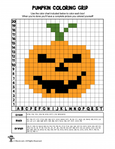 Halloween Mystery Pictures Grid Coloring Pages Woo Jr Kids Activities Halloween Mystery Pictures Halloween Mystery Pumpkin Coloring Pages