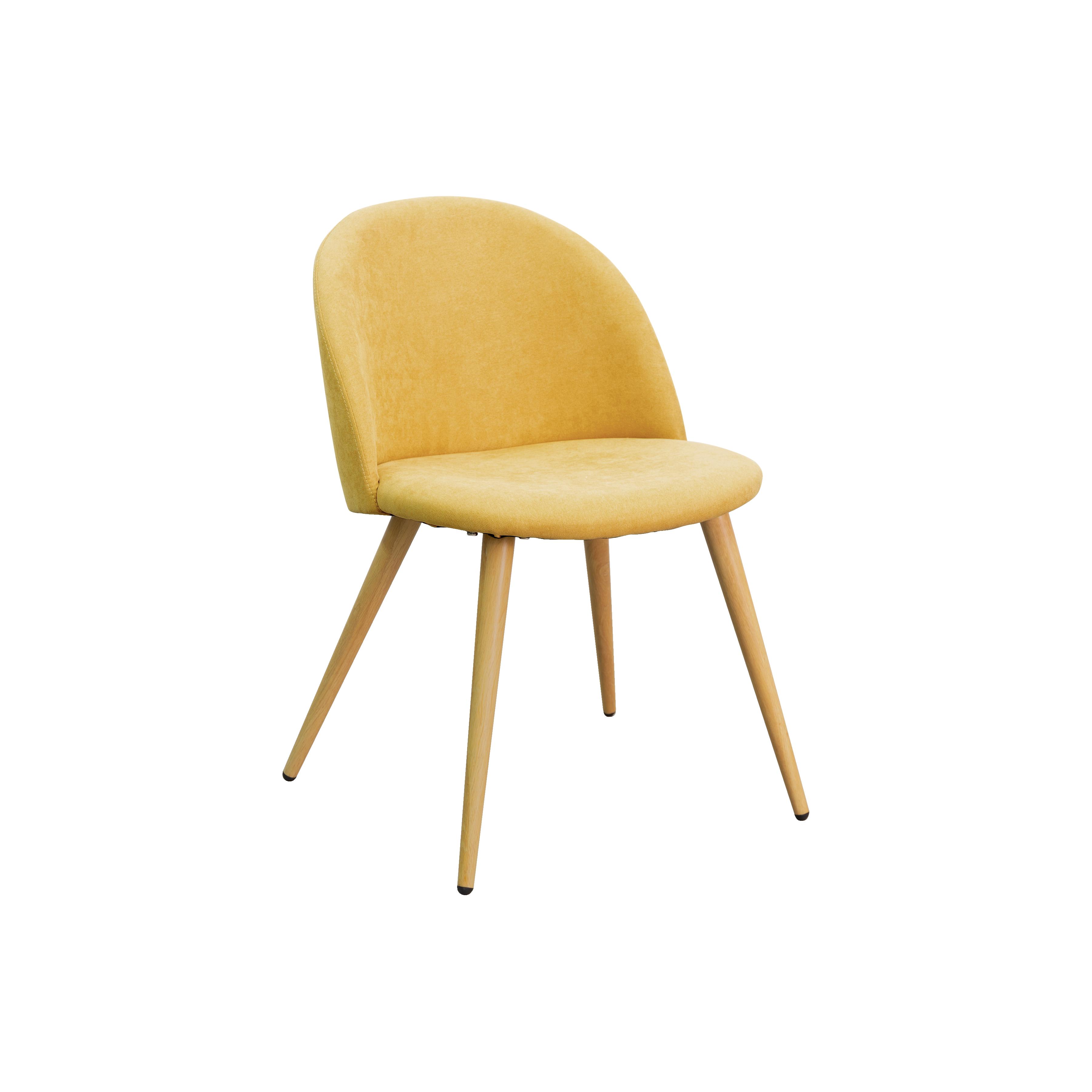 Chloe Dining Chair Sunshine Yellow Fabric Dining Chairs Yellow Dining Chairs Yellow Fabric