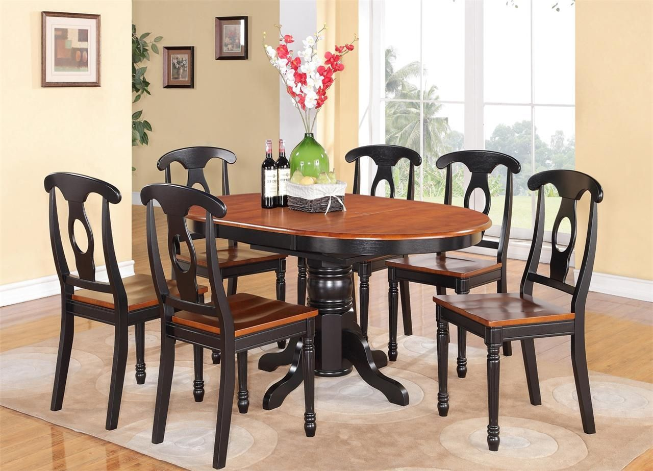Best Black And Cherry Dining Table Furniture Modern