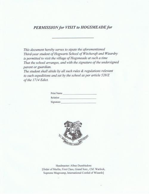 Resultado de imagen de gringotts deposit slip harry potter HARRY - permission slip template
