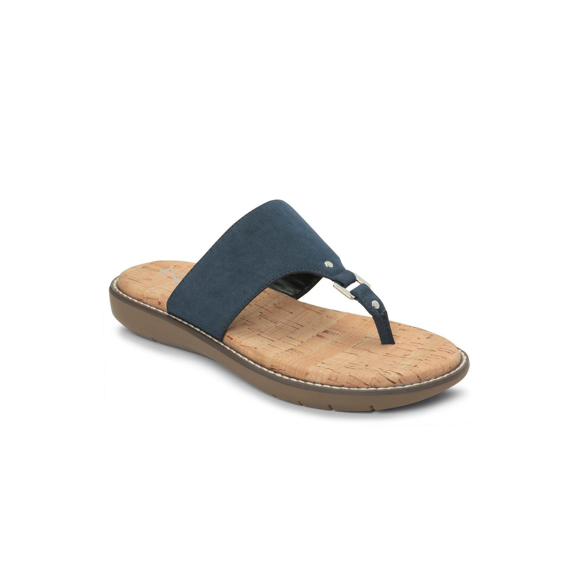 Women S A2 By Aerosoles Cool Cat Wide Width Slide Sandals Navy Blue 7 5