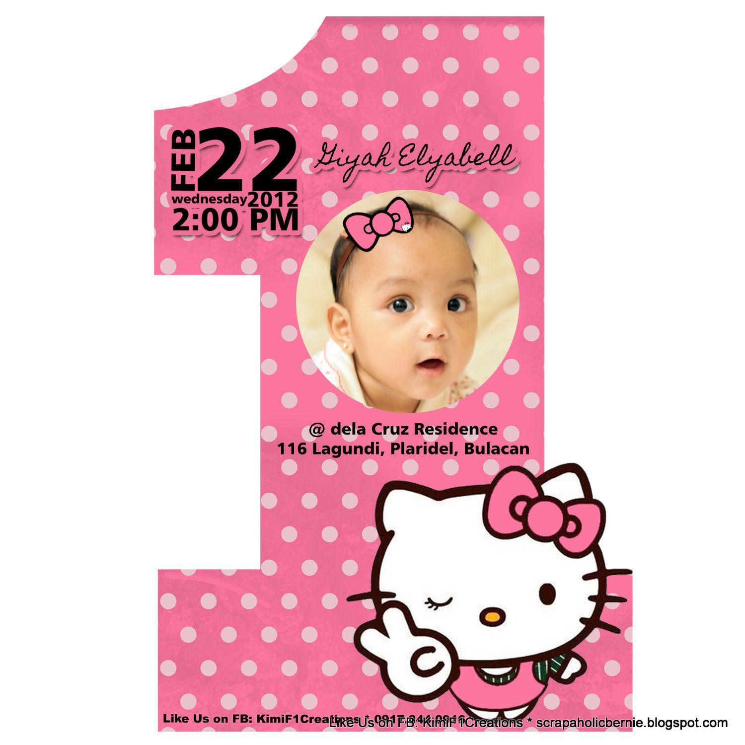 Printable Cute Hello Kitty Printable Birthday Invitations - Free hello kitty birthday invitation templates