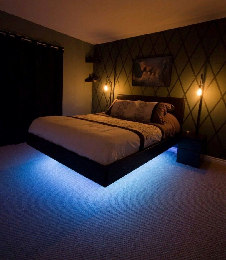 8 Stunning Floating Bed Design Ideas With Beautiful Light Apartment Bedroom Decor Interior Design Apartment Bedroom Bedroom Layouts
