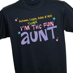 b1672f3b72 Personalized Fun Aunt T-Shirt   Gifts   Aunt t shirts, Aunt gifts y ...