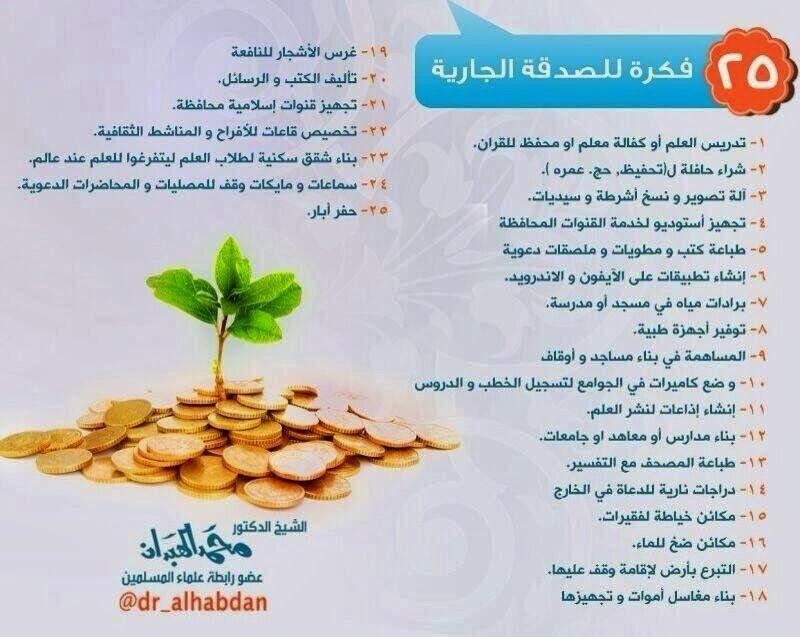 مدونة الباشق الإسلامي للتعريف بالإسلام 25 فكرة للصدقة الجارية لفضيلة الشيخ د محمد الهبدان Vegetables Islam Food