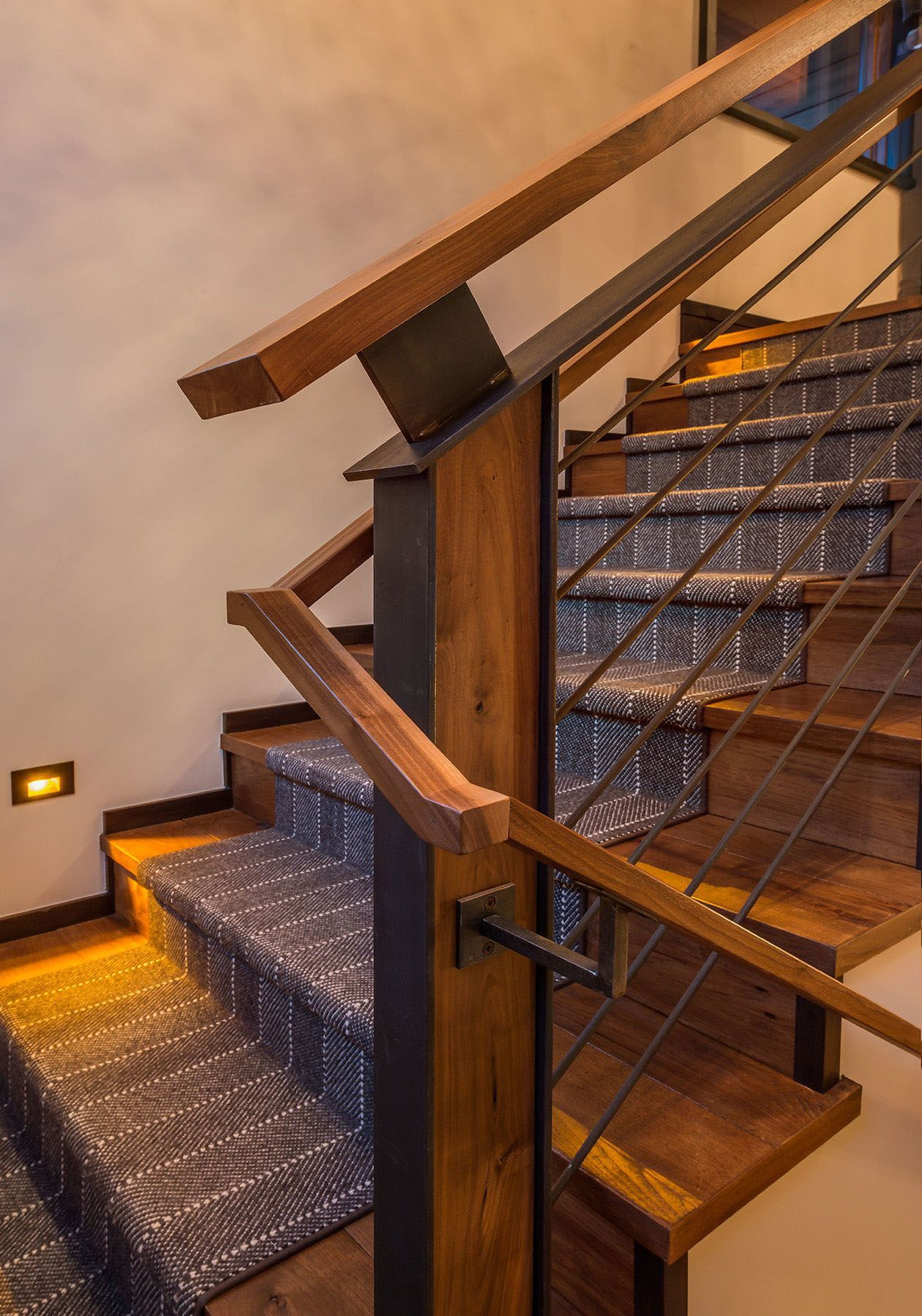 Suitable inexpensive interior stair railing ideas only on ...