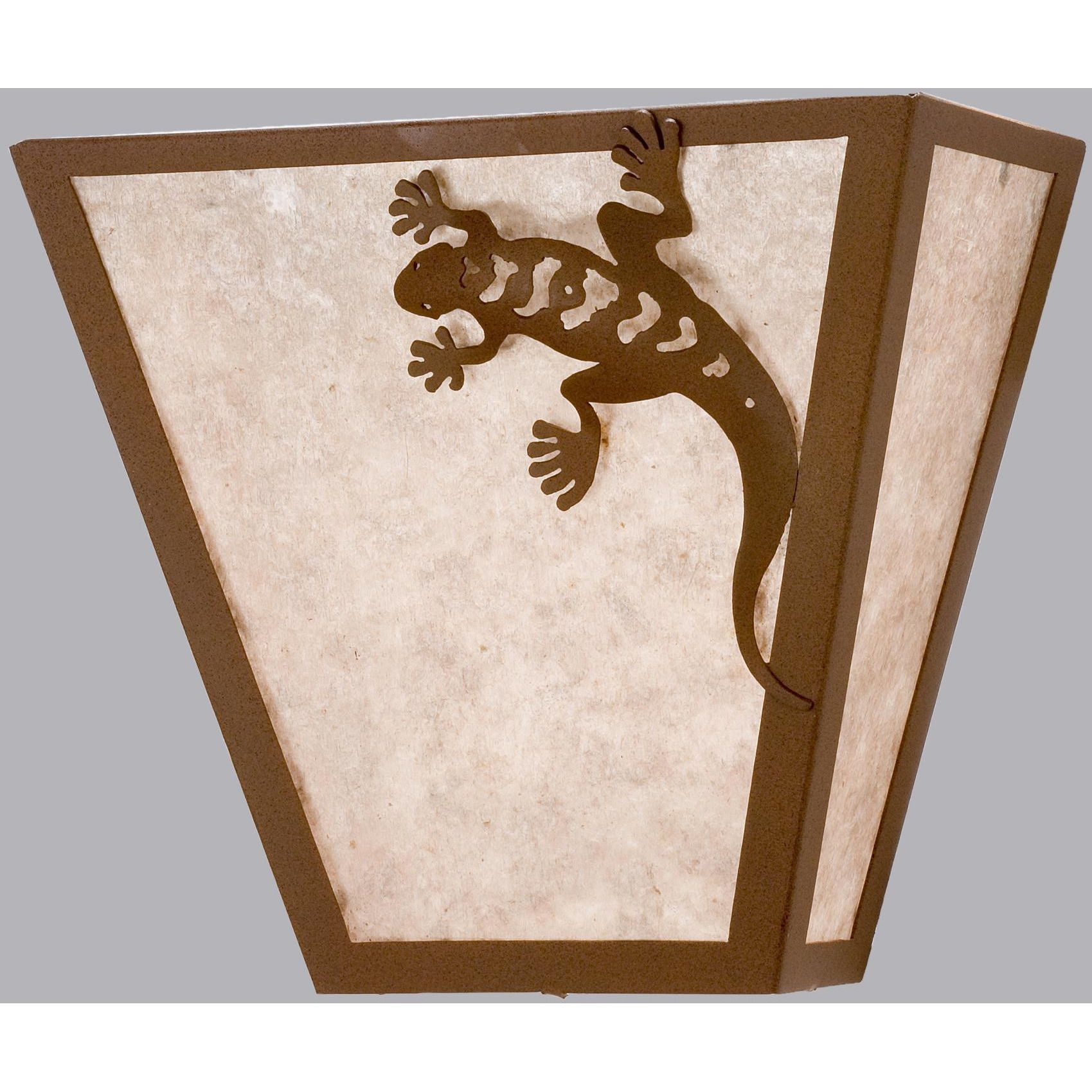 inch w gecko wall sconce custom made products pinterest
