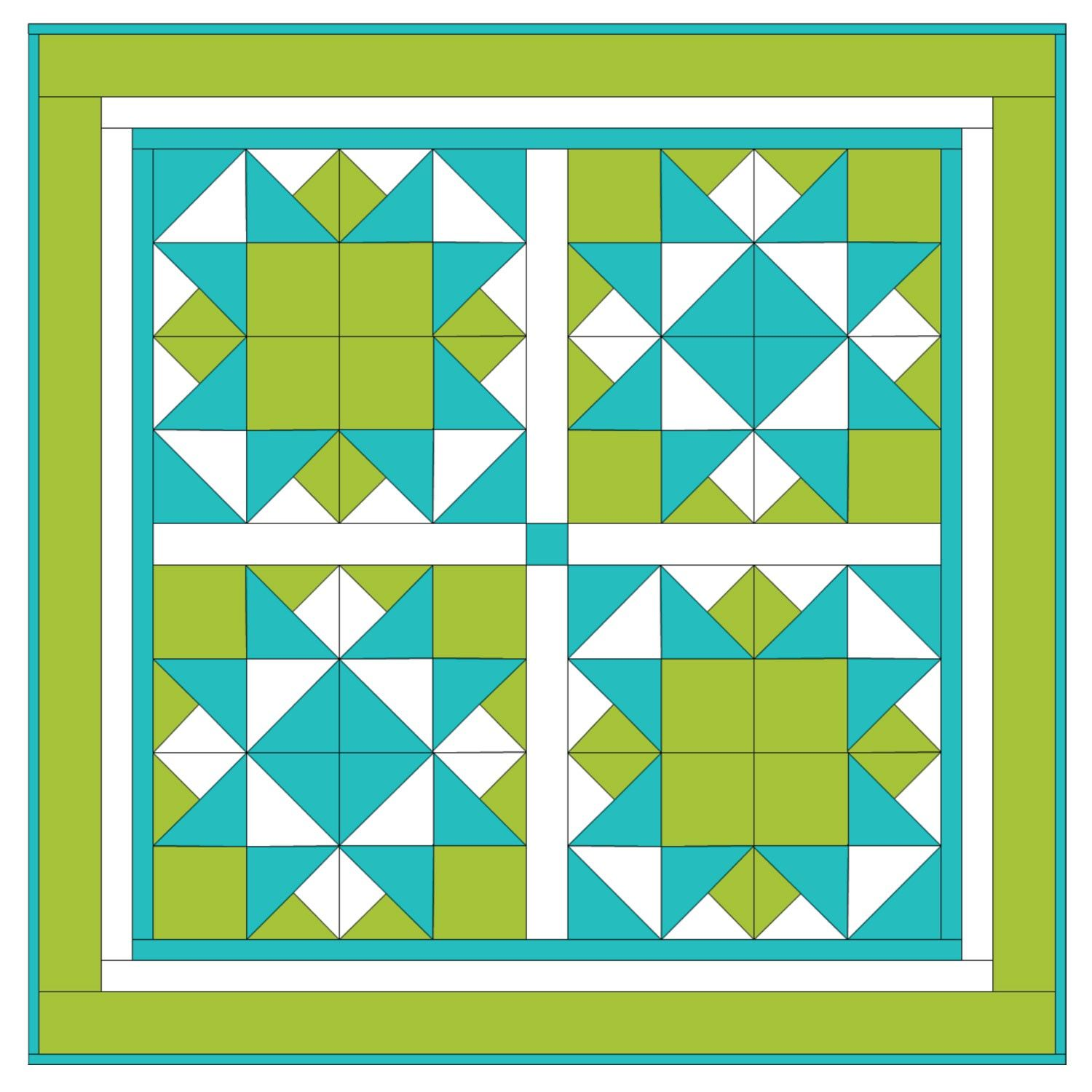 Make a statement with this bold geometric quilt. Mix and match ... : geometric quilt patterns free - Adamdwight.com