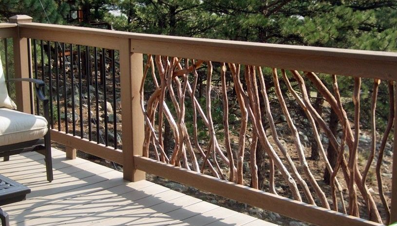 Branch Railing and Metal Balusters | deck railings ...