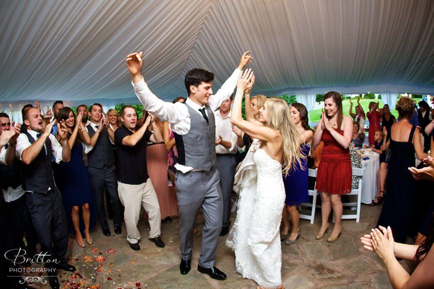 Bride And Groom Dancing During Their Reception Traditional Greek