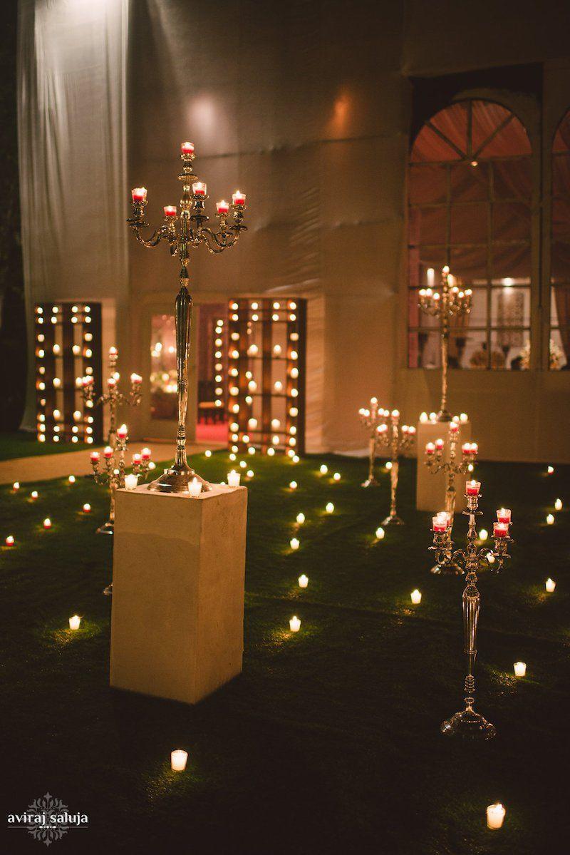 Candle Light Wedding Decor Nayantara Saurabh Indian Wedding