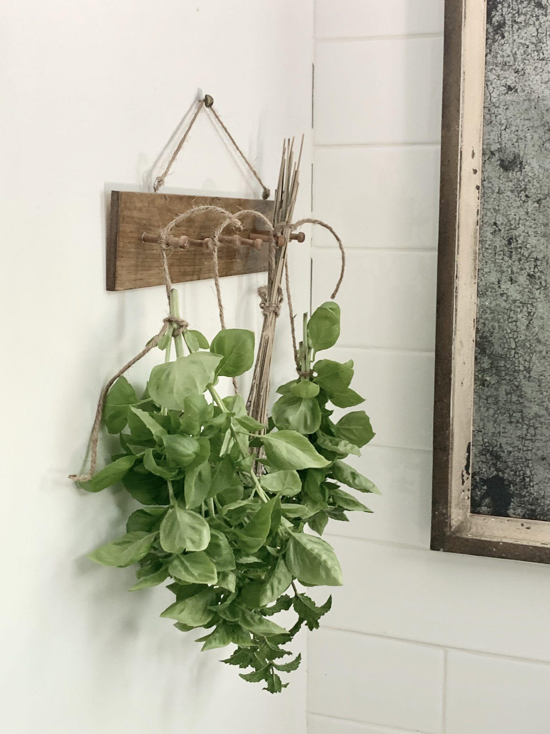 Diy herb drying rack white cottage home living herb