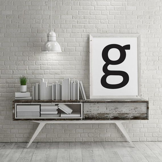 Minimalist Poster G Letter Poster Scandinavian di AYAKAstudio