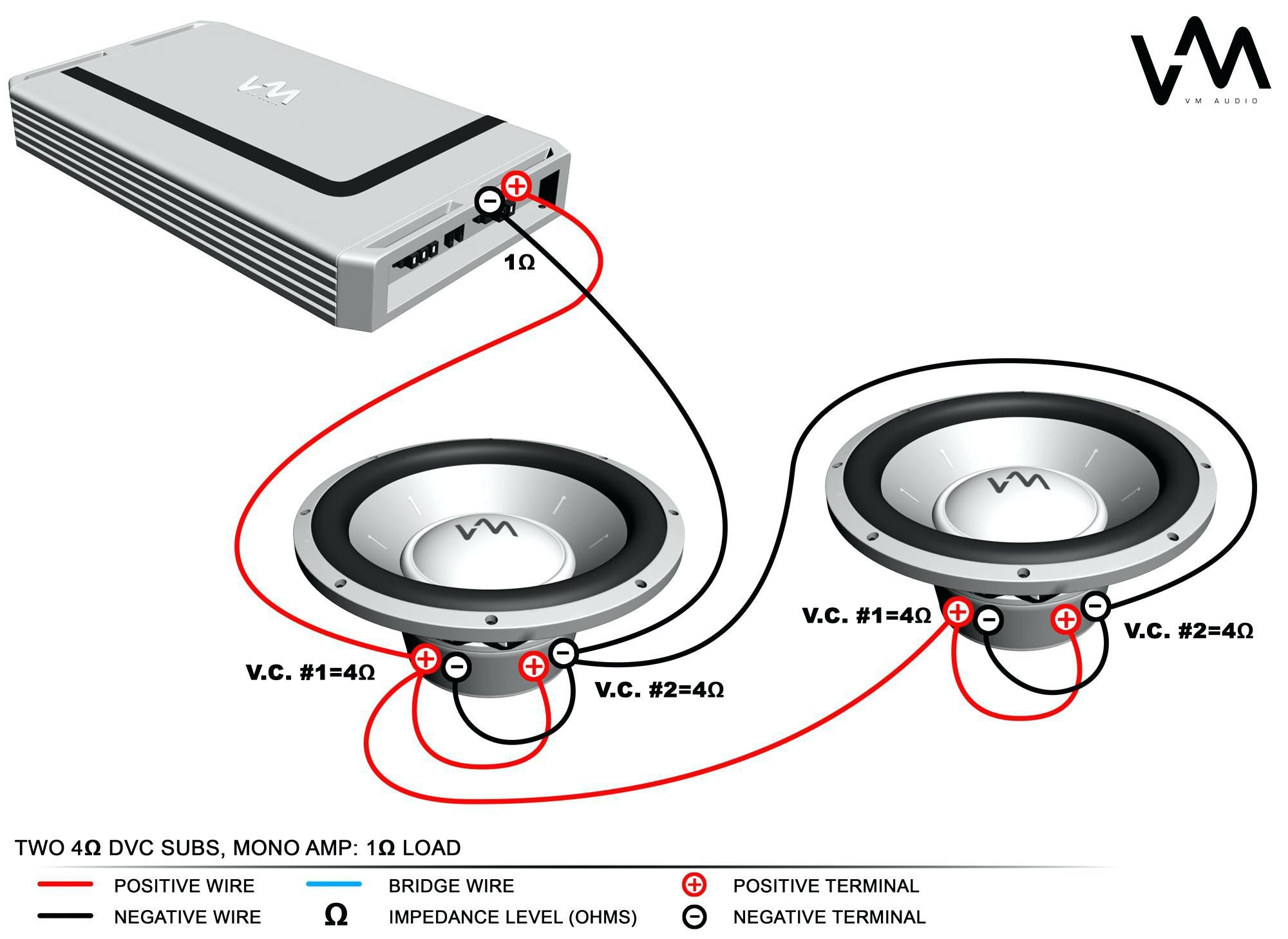 1 Ohm Sub Wiring Diagram Blogs Throughout Dual  With