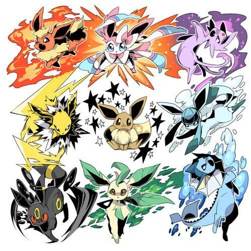 Eevee evolutions-make it into a tattoo and everytime you hit a milstone get one or have it wear it represents a person who means something to you.