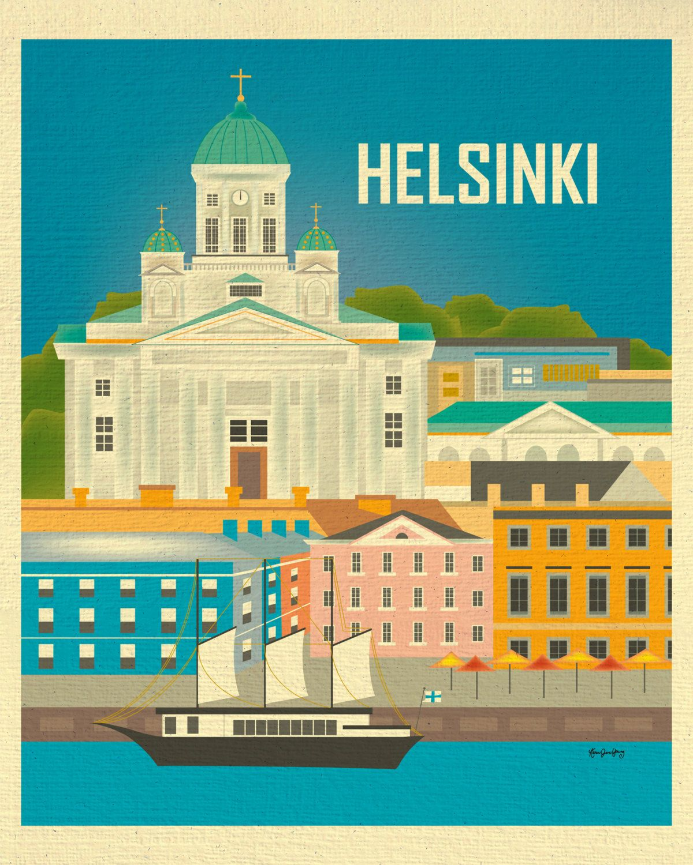 Helsinki Art Helsinki Skyline Print Finland Wall Art Etsy Finland Travel Travel Prints Travel Posters