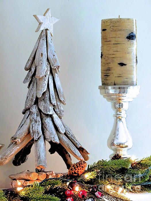 Christmas Tree and Candle still life - Janice Drew