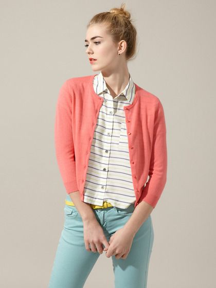Cute top with a light pale colored skirt. Cashmere 3/4 Cardigan by Autumn Cashmere on Gilt.com