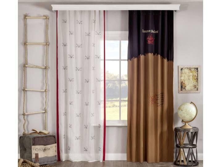 Fenstervorhang Vorhang für Kinderzimmer braun Jungen