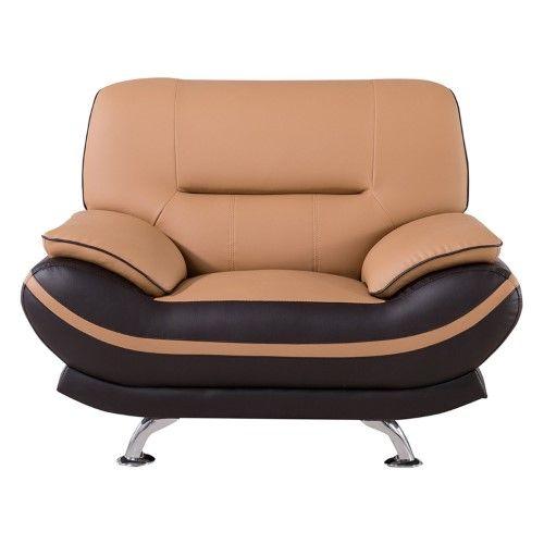 American Eagle Furniture Lansing: American Eagle Furniture Mason Leather Armchair, Yellow