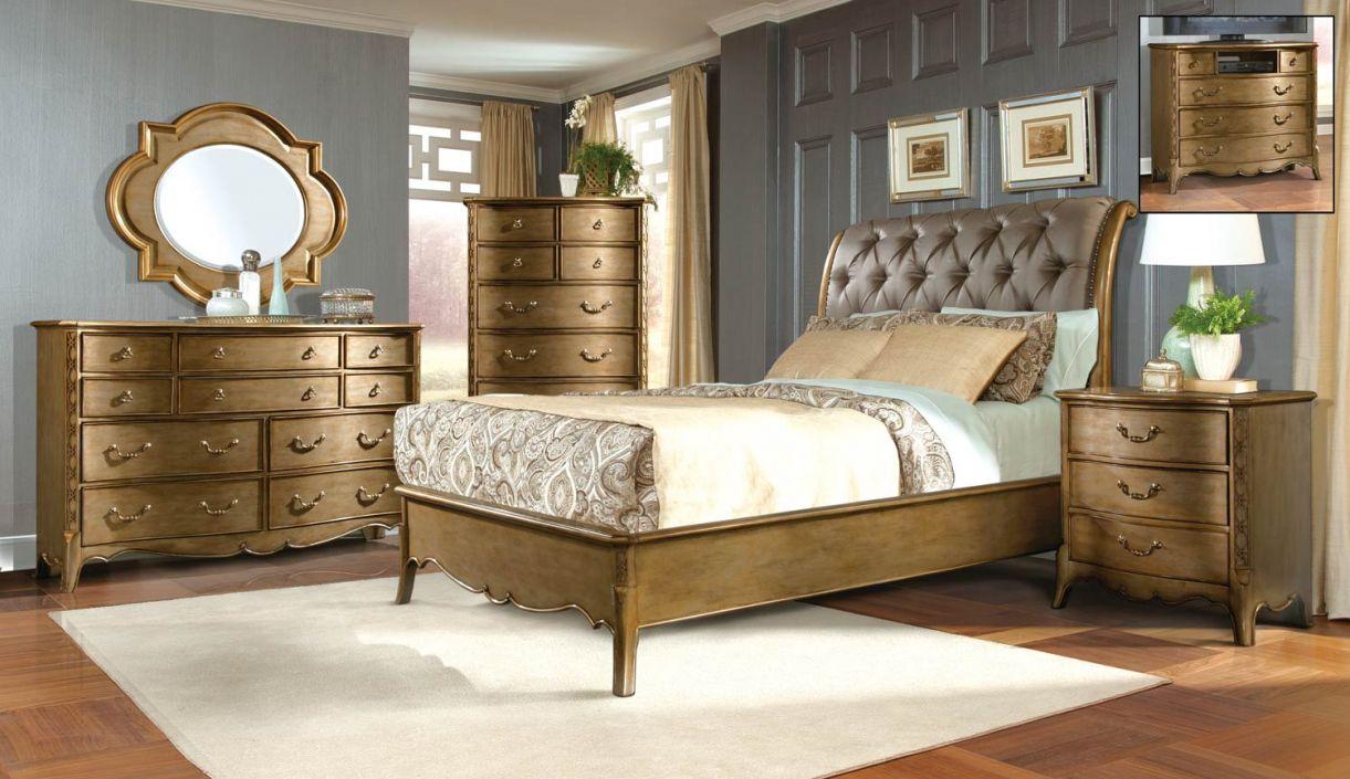 Gold Bedroom Furniture Sets Master Bedroom Interior