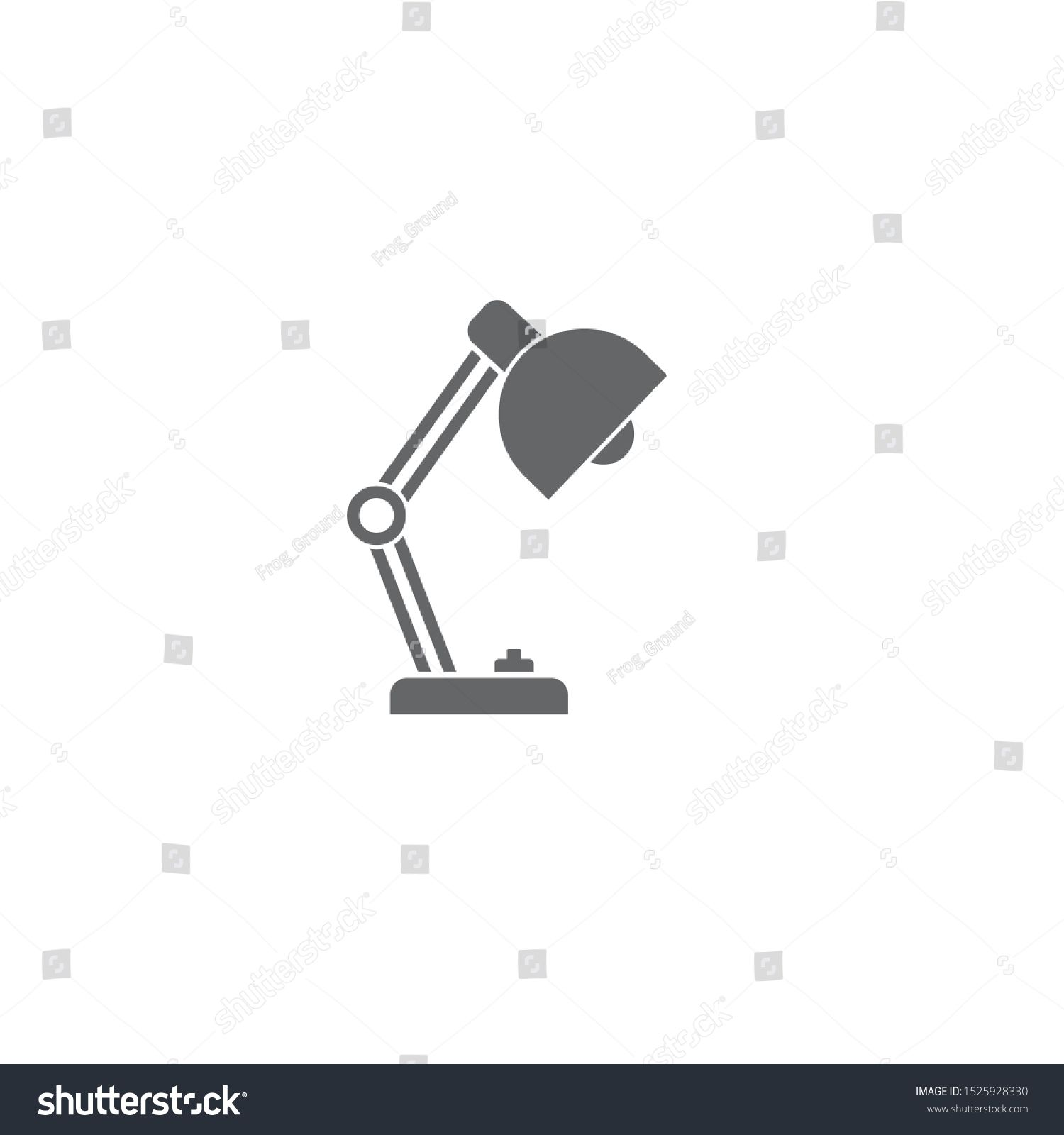 Lamp Icon Template Color Editable Desk Lamp Symbol Vector Sign Isolated On White Background Illustration For Graphic And Web D Vector Logo Mockup Stock Photos