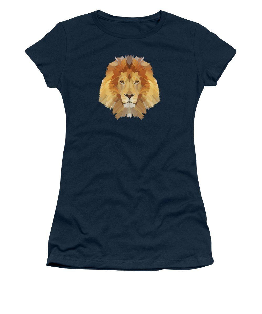 74e728f0 Low Poly Lion - Women's T-Shirt (Athletic Fit) | Products | T shirts ...