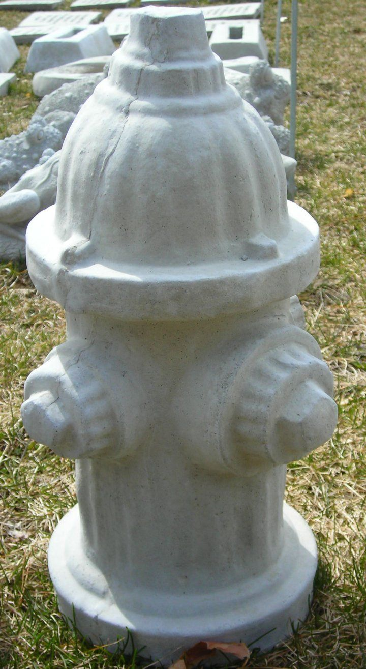 Cement Fire Hydrant From Warmbier Farms Concrete Garden