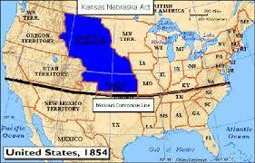 This Is A Map Of Where Bleeding Kansas Took Place Besides Kansas - Bleeding us map