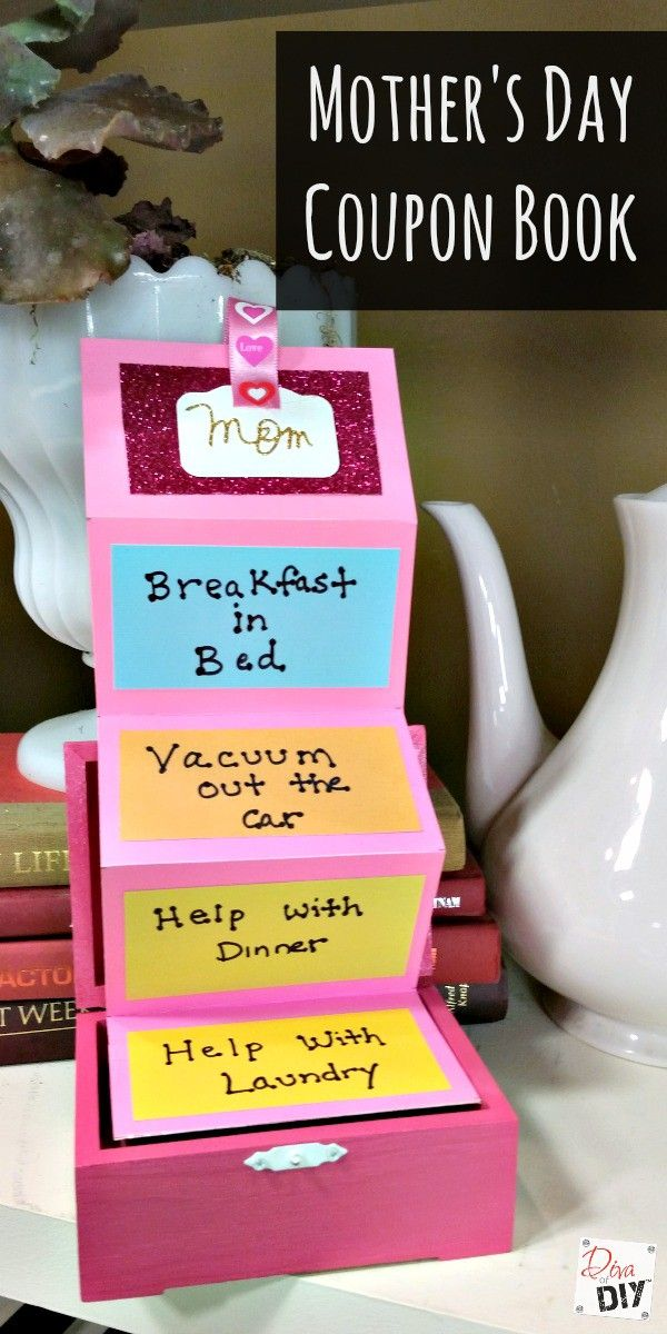 How to create an easy unique mother 39 s day coupon book Mothers day presents diy