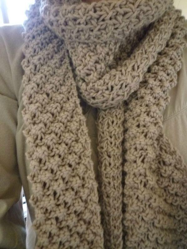 Echarpe point d 39 astrakan du blog en sortant de l 39 cole tricot tricotin knitting - Tricoter une echarpe homme ...