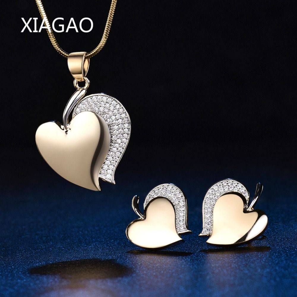 Xiagao romantic hot sale earrings necklace pendant for women jewelry