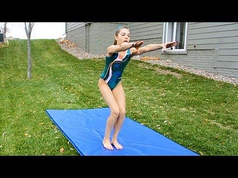 how to do a front handspring  youtube  gymnastics tricks