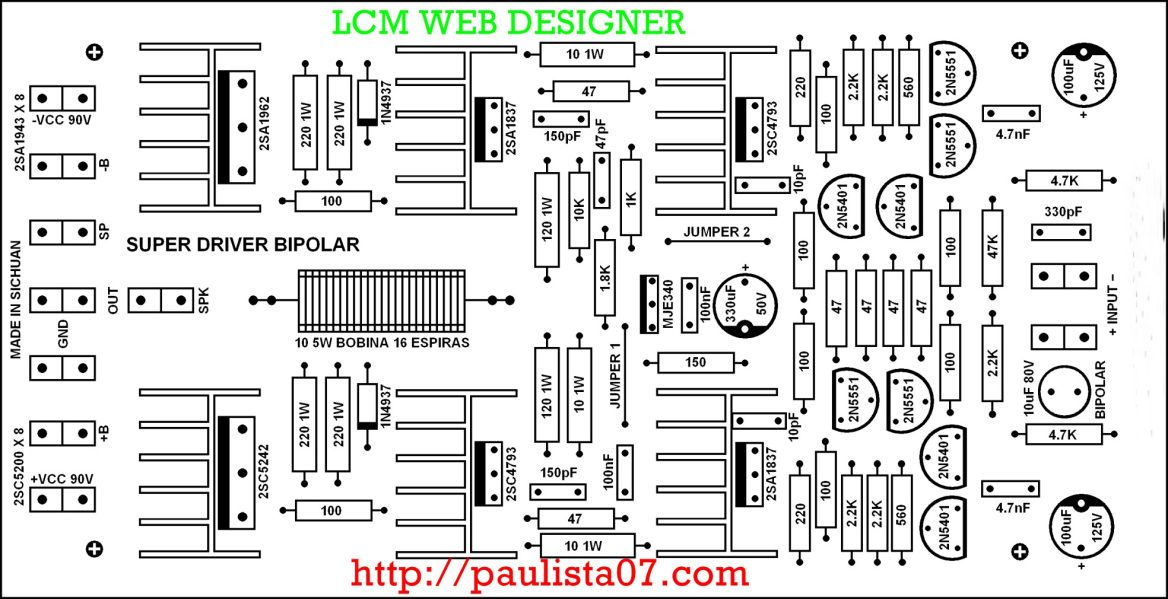 amplificador 1500w circuit diagram t