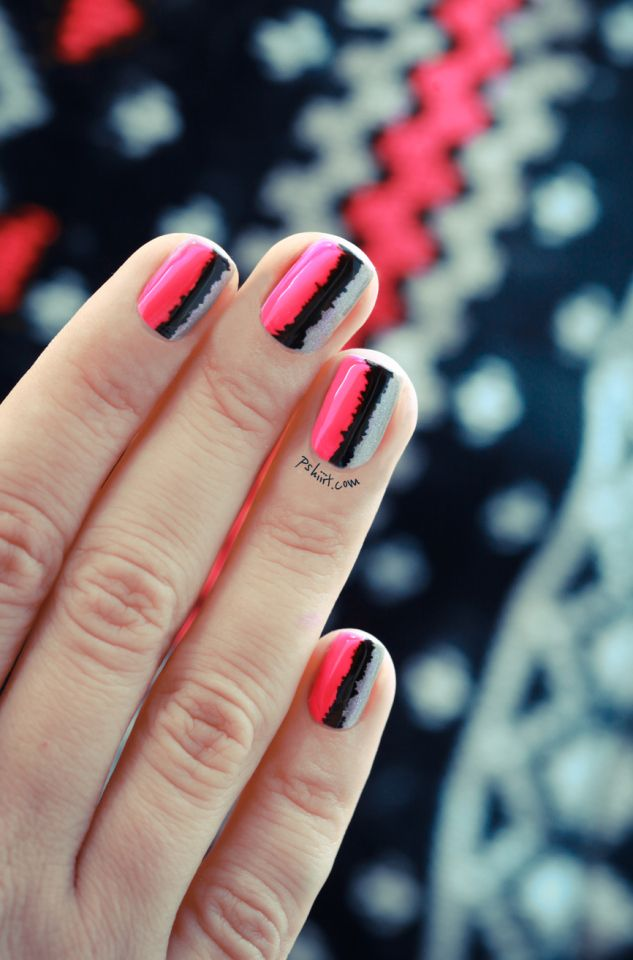 Tuto nail art « effet couture » | Neon pink nails, Pink nails and Neon
