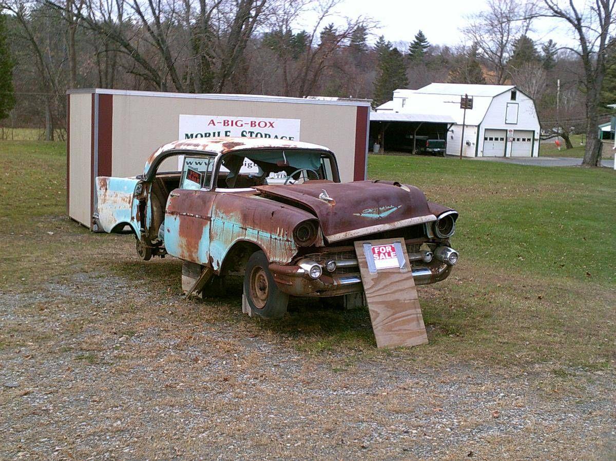 1957 Chevrolet 4 Door Hardtop 1957 Chevrolet Abandoned Cars 57