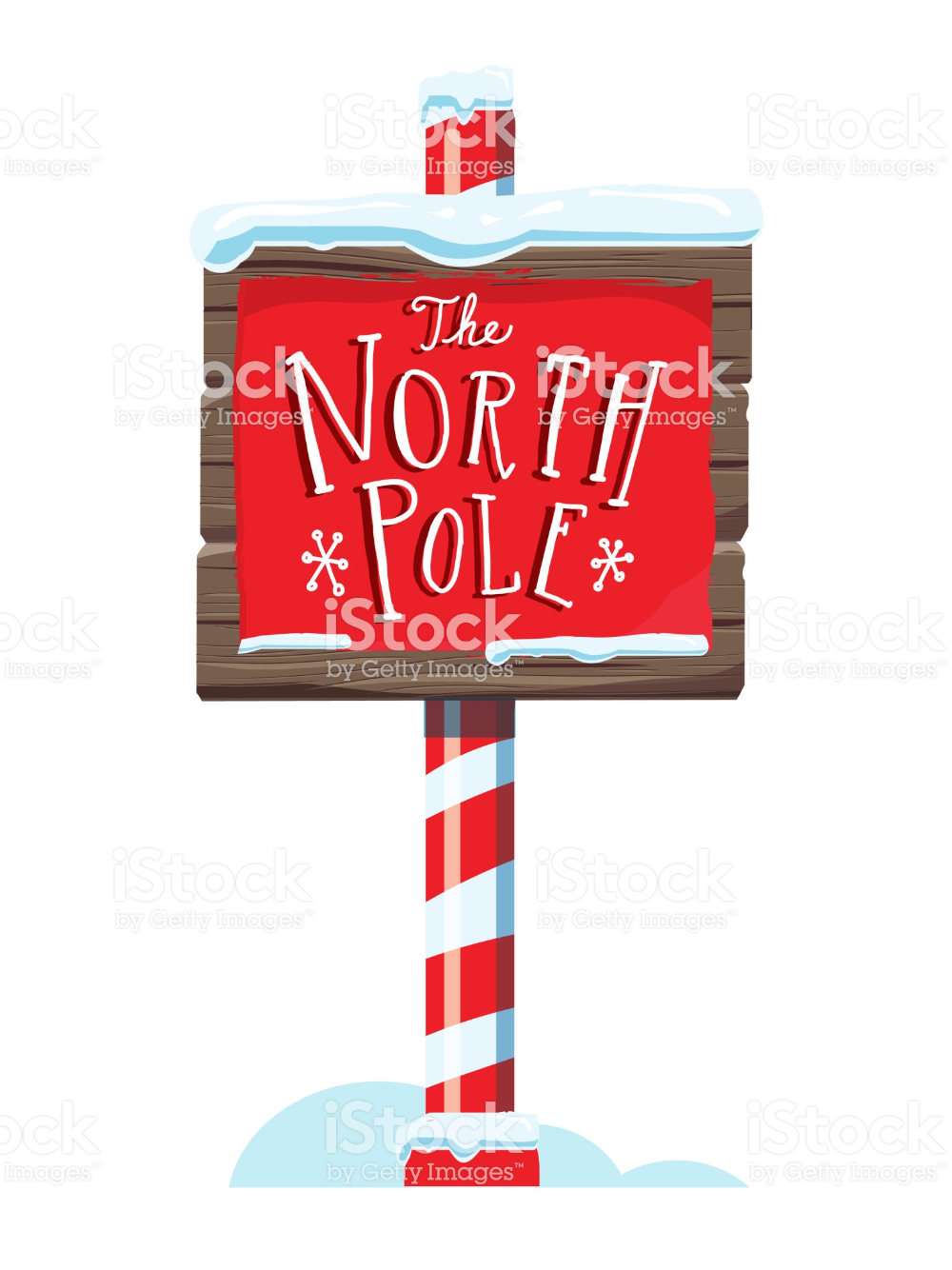 North Pole Wooden Winter Sign With Handwriting Or Hand Lettered Text Royalty Free Art Stock Vector Winter Signs Hand Lettering Book And Magazine Design