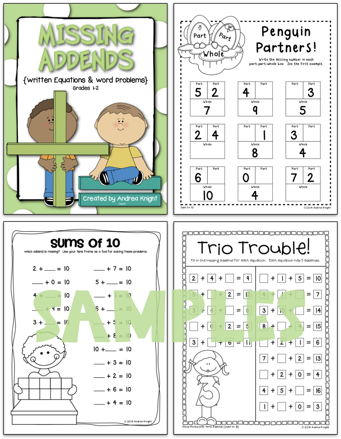 Missing Addends Math Practice Worksheets For Grades 1 2
