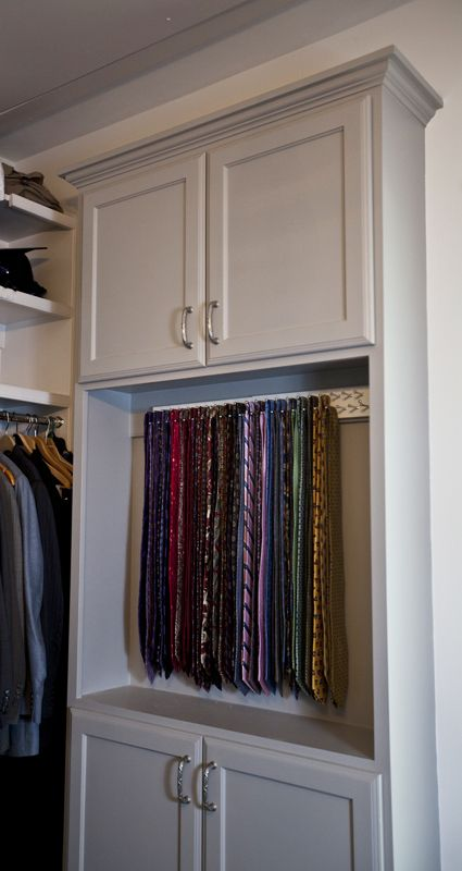 Adding Tie Storage elegant storage solutions .cedarhillfarmhouse.com & Adding Tie Storage | Pinterest | Tie storage Storage and Elegant