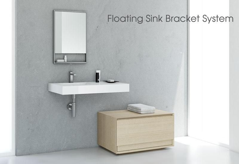 Furniture / Floating Sinks | WETSTYLE Paired With Storage Cube Shown In  Natural Oak