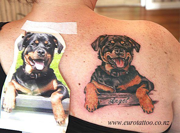Rottie Tattoo Rottweiler Tattoo Dog Portrait Tattoo Rottweiler
