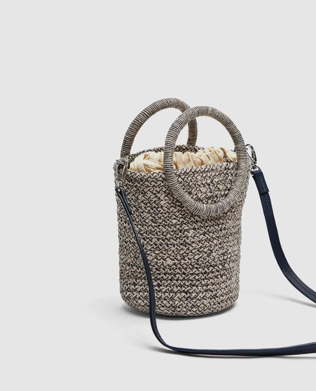 aa6e0f599c Image 3 of MINI BRAIDED TOTE BAG WITH ROUND HANDLES from Zara ...