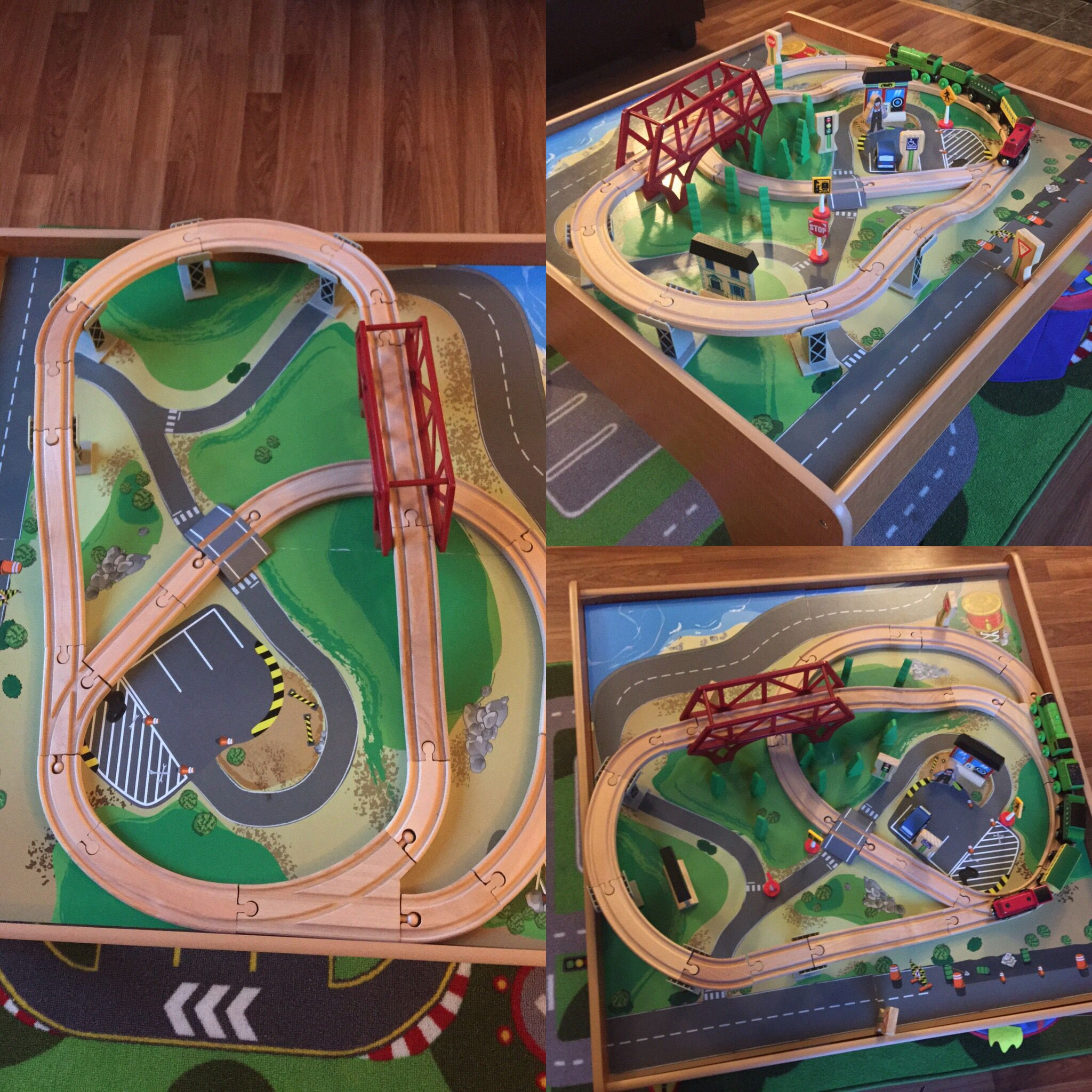 Imaginarium 55 piece train table set. This is the layout.  sc 1 st  Pinterest : imaginarium train table set up instructions - pezcame.com
