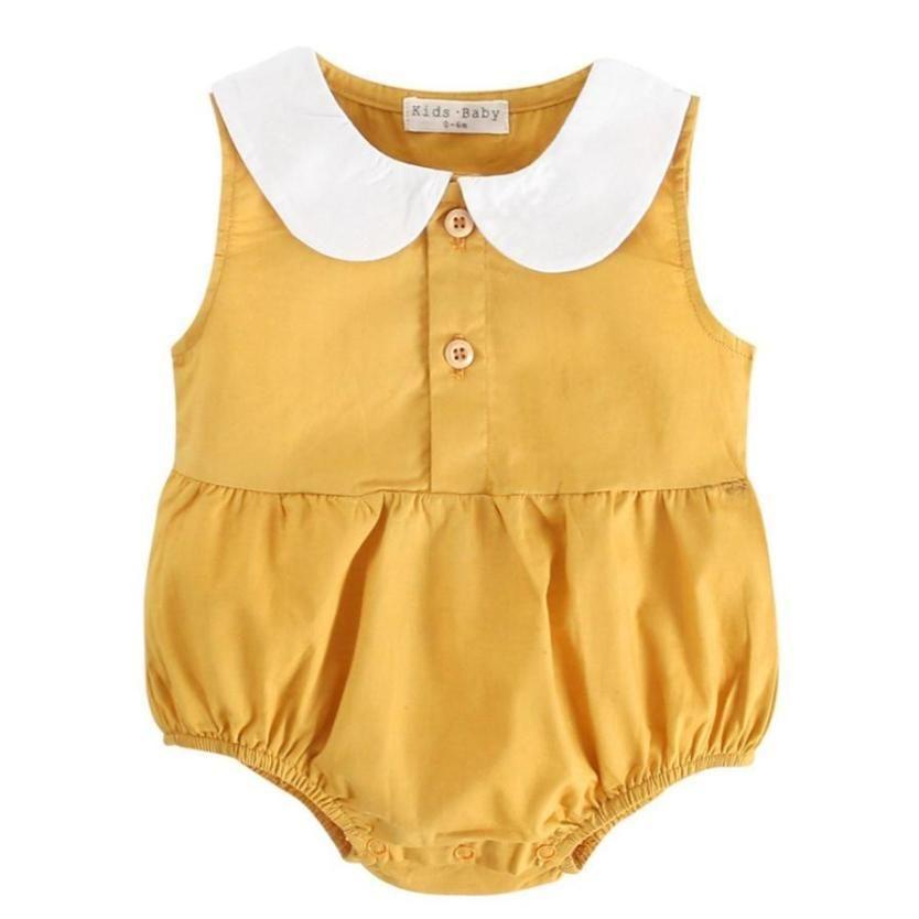 You are My Sunshine Baby Girls Organic Cotton Bodysuit Romper Jumpsuit