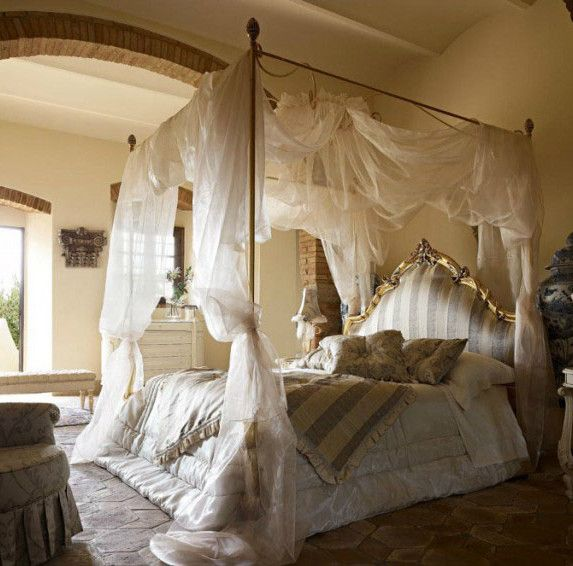 Bedroom Golden Color Canopy Bed From Steel Canopy Bed Decoration White Curtains Cover Shocking Bedrooms With Canopy Beds That Make You Feel In Heaven
