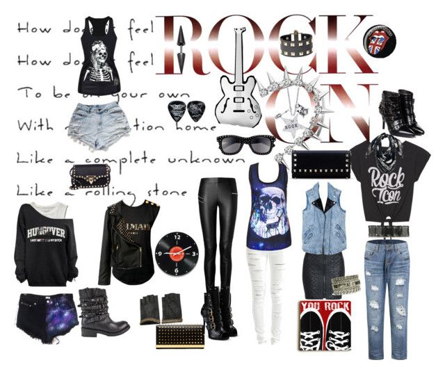 """""""Rock This Way"""" by lifestylestories ❤ liked on Polyvore featuring Joseph, Morgan, Abercrombie & Fitch, Alisa Michelle, Ash, VILA, Balmain, Ted Baker, Valentino and Giuseppe Zanotti"""
