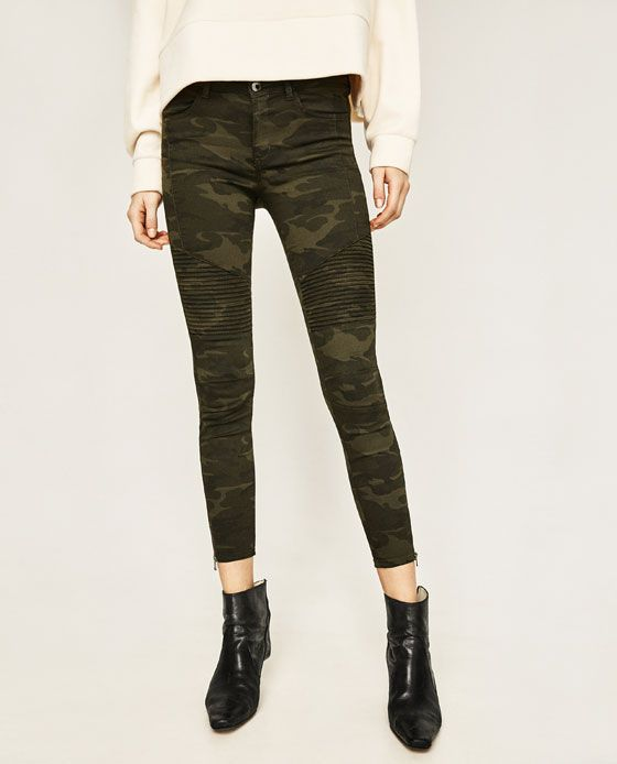 MID-RISE BIKER TROUSERS - Available in more colours $49.90