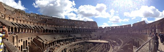 At The Colosseum in Rome, Italy   Sara Russell Interiors